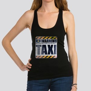 Warning: Taxi Dark Racerback Tank Top