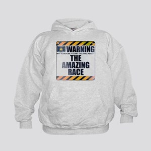 Warning: The Amazing Race Kid's Hoodie