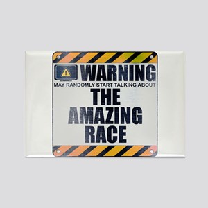 Warning: The Amazing Race Rectangle Magnet