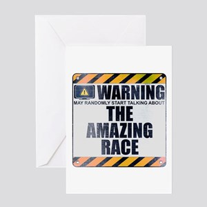 Warning: The Amazing Race Greeting Card