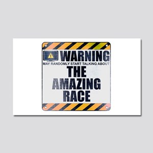 Warning: The Amazing Race Car Magnet 20 x 12