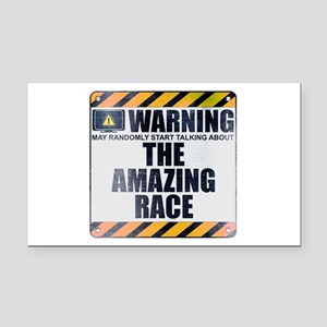 Warning: The Amazing Race Rectangle Car Magnet