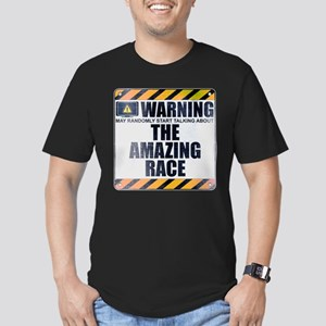 Warning: The Amazing Race Men's Dark Fitted T-Shir