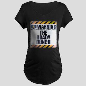 Warning: The Brady Bunch Dark Maternity T-Shirt