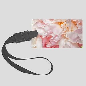 Blooming pink peonies 1 Large Luggage Tag