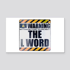 Warning: The L Word Rectangle Car Magnet