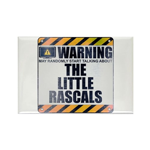 Warning: The Little Rascals Rectangle Magnet