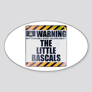 Warning: The Little Rascals Oval Sticker