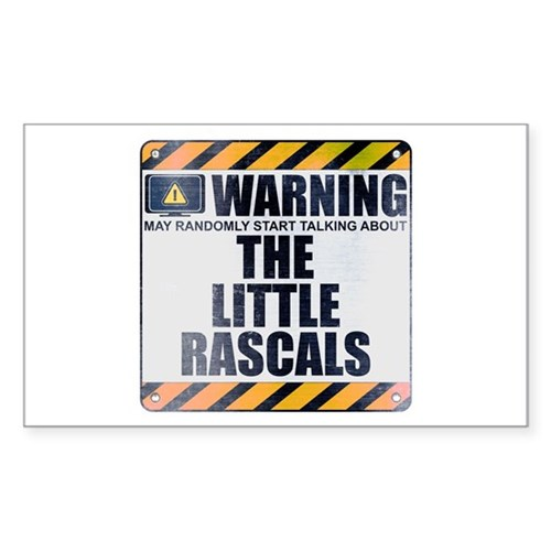 Warning: The Little Rascals Rectangle Sticker
