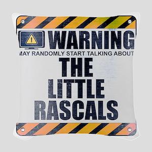Warning: The Little Rascals Woven Throw Pillow