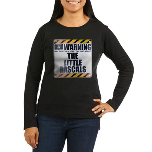 Warning: The Little Rascals Women's Dark Long Slee
