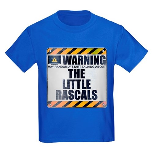Warning: The Little Rascals Kids Dark T-Shirt