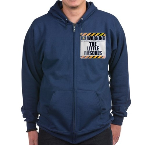Warning: The Little Rascals Dark Zip Hoodie