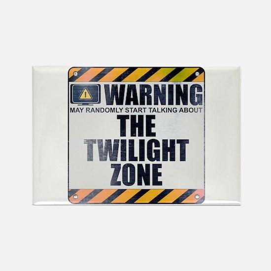 Warning: The Twilight Zone Rectangle Magnet