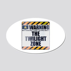 Warning: The Twilight Zone 22x14 Oval Wall Peel