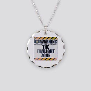 Warning: The Twilight Zone Necklace Circle Charm