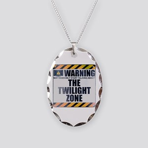 Warning: The Twilight Zone Necklace Oval Charm