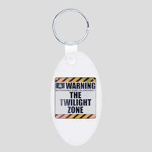 Warning: The Twilight Zone Aluminum Oval Keychain