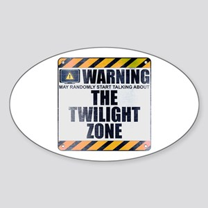 Warning: The Twilight Zone Oval Sticker
