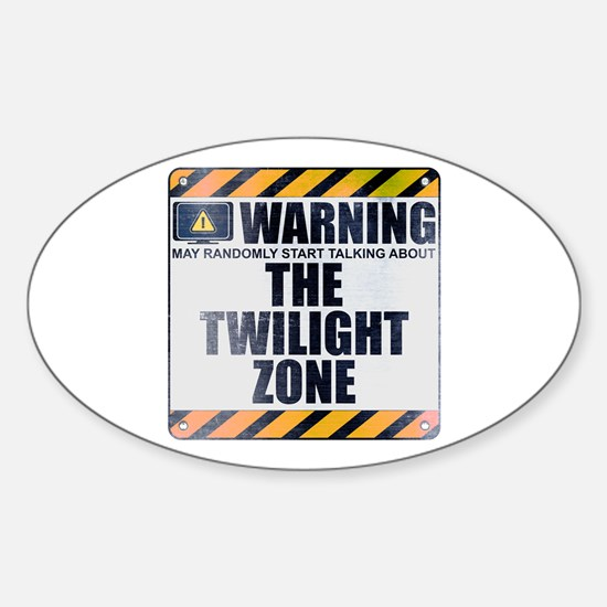 Warning: The Twilight Zone Oval Decal