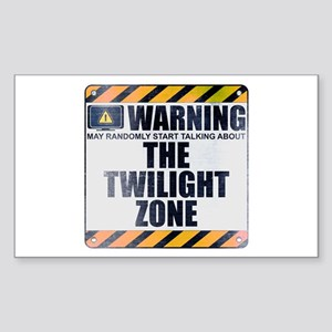 Warning: The Twilight Zone Rectangle Sticker