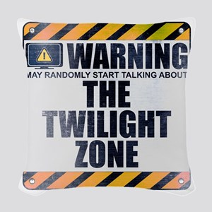 Warning: The Twilight Zone Woven Throw Pillow