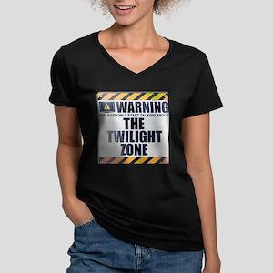 Warning: The Twilight Zone Women's Dark V-Neck T-S