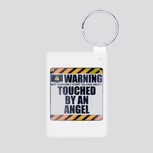 Warning: Touched by an Angel Aluminum Photo Keycha