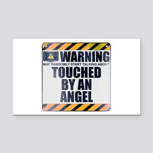Warning: Touched by an Angel Rectangle Car Magnet