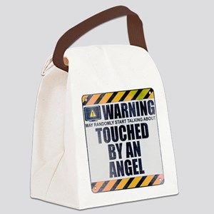 Warning: Touched by an Angel Canvas Lunch Bag