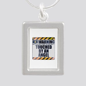 Warning: Touched by an Angel Silver Portrait Neckl