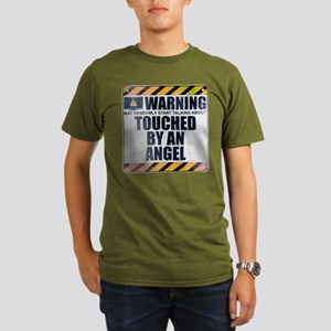Warning: Touched by an Angel Organic Men's Dark T-
