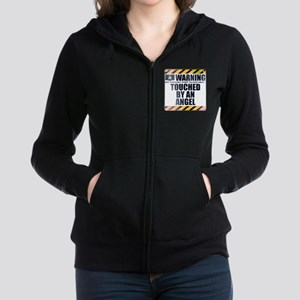 Warning: Touched by an Angel Women's Zip Hoodie
