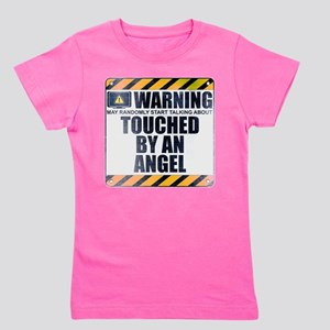 Warning: Touched by an Angel Girl's Dark Tee