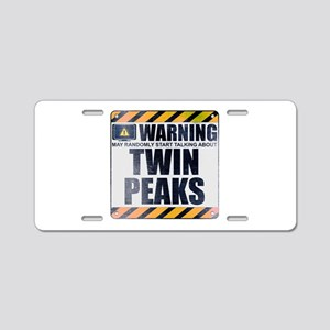 Warning: Twin Peaks Aluminum License Plate
