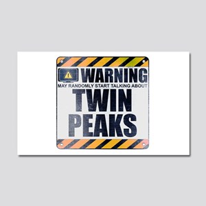 Warning: Twin Peaks Car Magnet 20 x 12