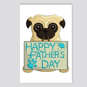 Father's Day Pug Postcards (Package of 8)
