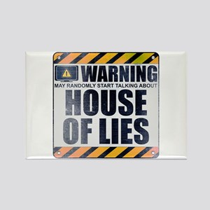 Warning: House of Lies Rectangle Magnet
