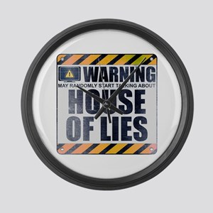Warning: House of Lies Large Wall Clock