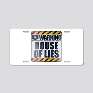 Warning: House of Lies Aluminum License Plate