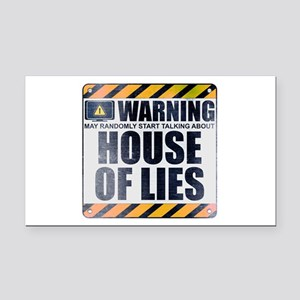Warning: House of Lies Rectangle Car Magnet