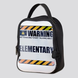 Warning: Elementary Neoprene Lunch Bag
