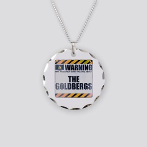 Warning: The Goldbergs Necklace Circle Charm