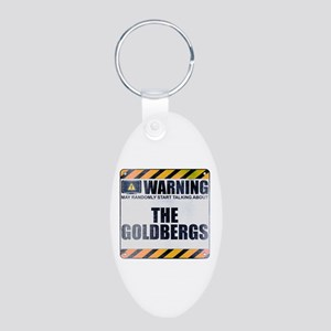 Warning: The Goldbergs Aluminum Oval Keychain