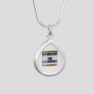 Warning: The Goldbergs Silver Teardrop Necklace