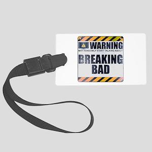 Warning: Breaking Bad Large Luggage Tag