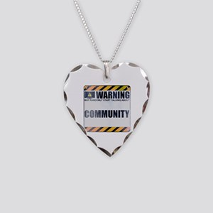Warning: Community Necklace Heart Charm