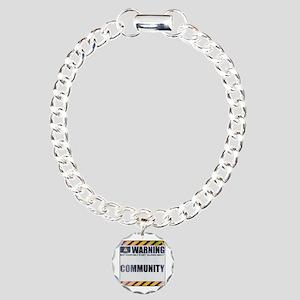 Warning: Community Charm Bracelet, One Charm