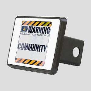 Warning: Community Rectangular Hitch Cover