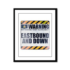Warning: Eastbound and Down Framed Panel Print